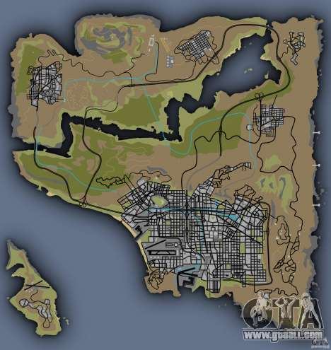 the Real map GTA V!