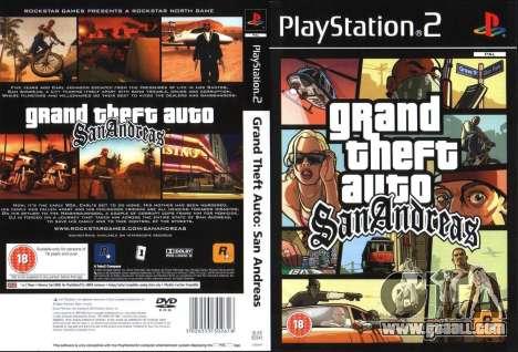 Обложка GTA San Andreas UK