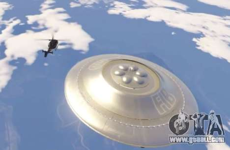 GTA 5 Fliegende Untertasse (UFO) Sandigen Ufer