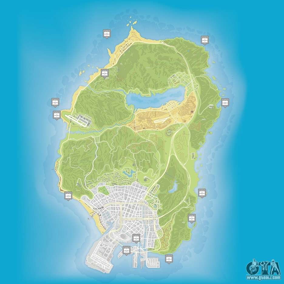 Map of the hidden packages in GTA 5