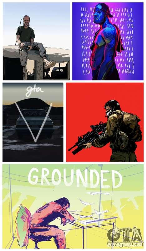 Update the fan art GTA 5