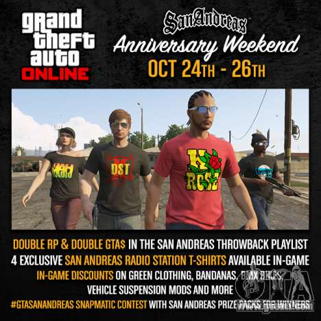 Weekend in San Andreas: prizes and contests