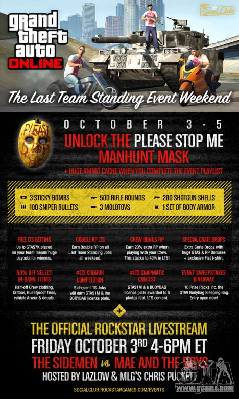 Weekend in GTA Online: contests and bonuses