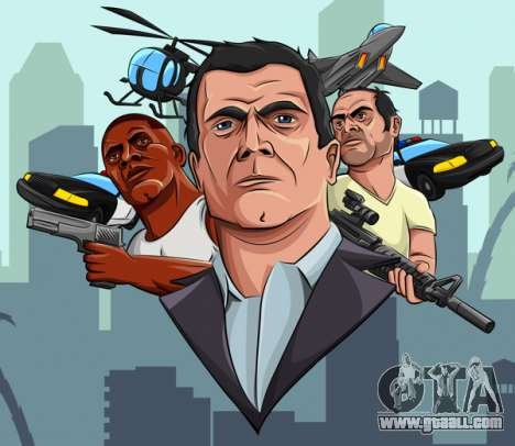 Fan Art GTA 5: new year update
