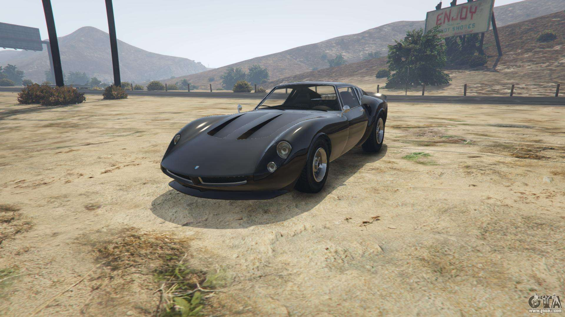 Grotti Stinger GT from GTA 5 - front view