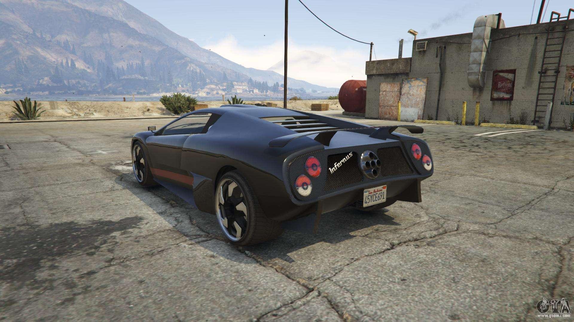 Pegassi Infernus from GTA 5 - screenshots, features and description  supercar.