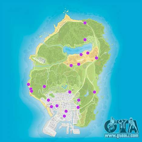 GTA 5 shop robbery map
