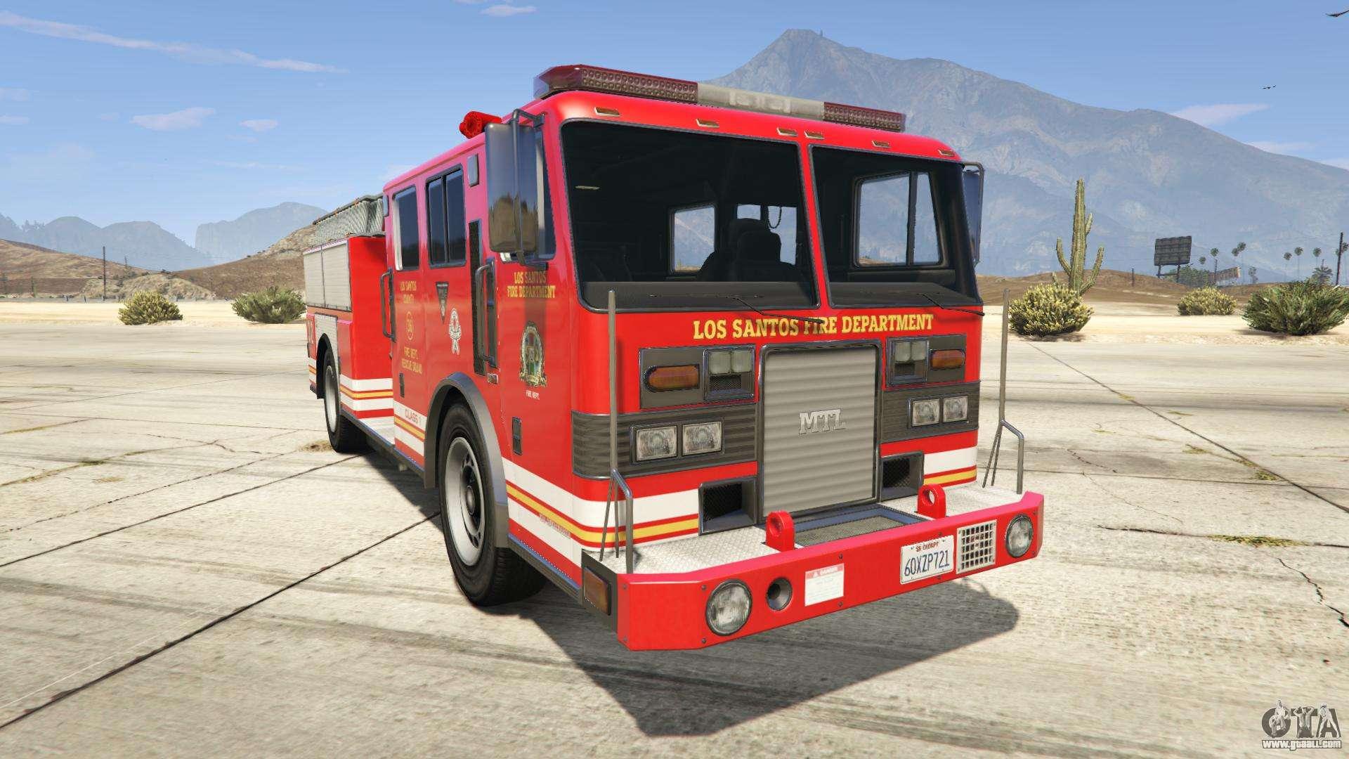 GTA 5 MTL Fire Truck - front view