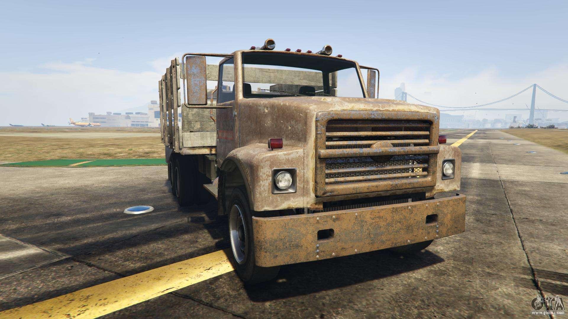 GTA 5 Vapid Scrap Truck - front view