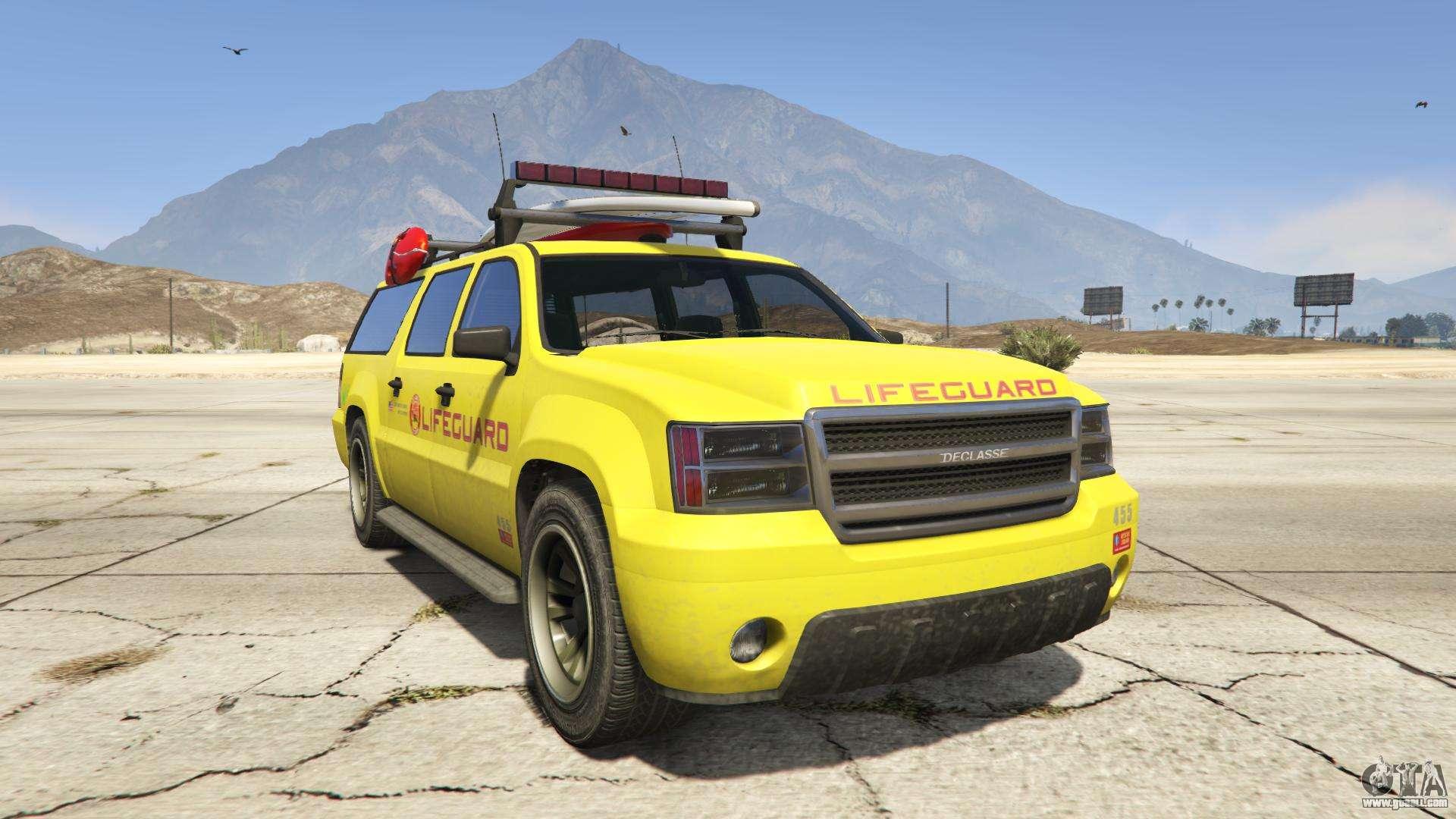 GTA 5 Declasse Lifeguard - front view
