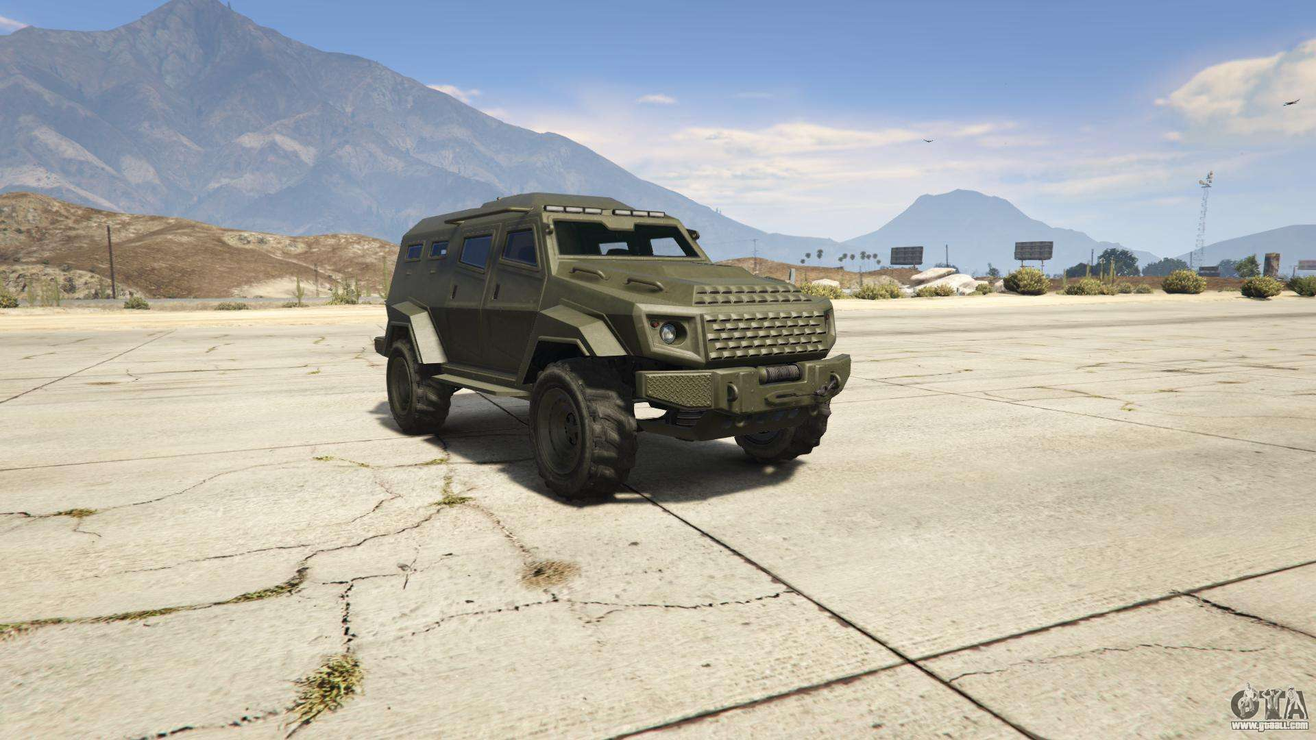 GTA 5 HVY Insurgent - screenshots, features and description the armored car.