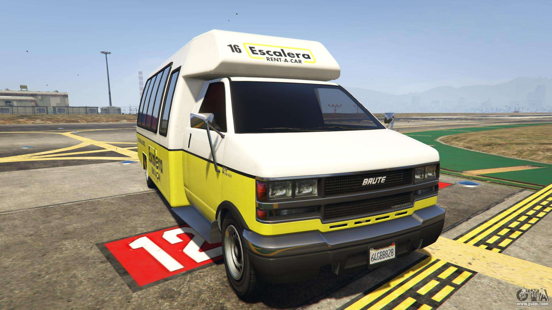 GTA 5 Brute Rental Shuttle Bus - front view