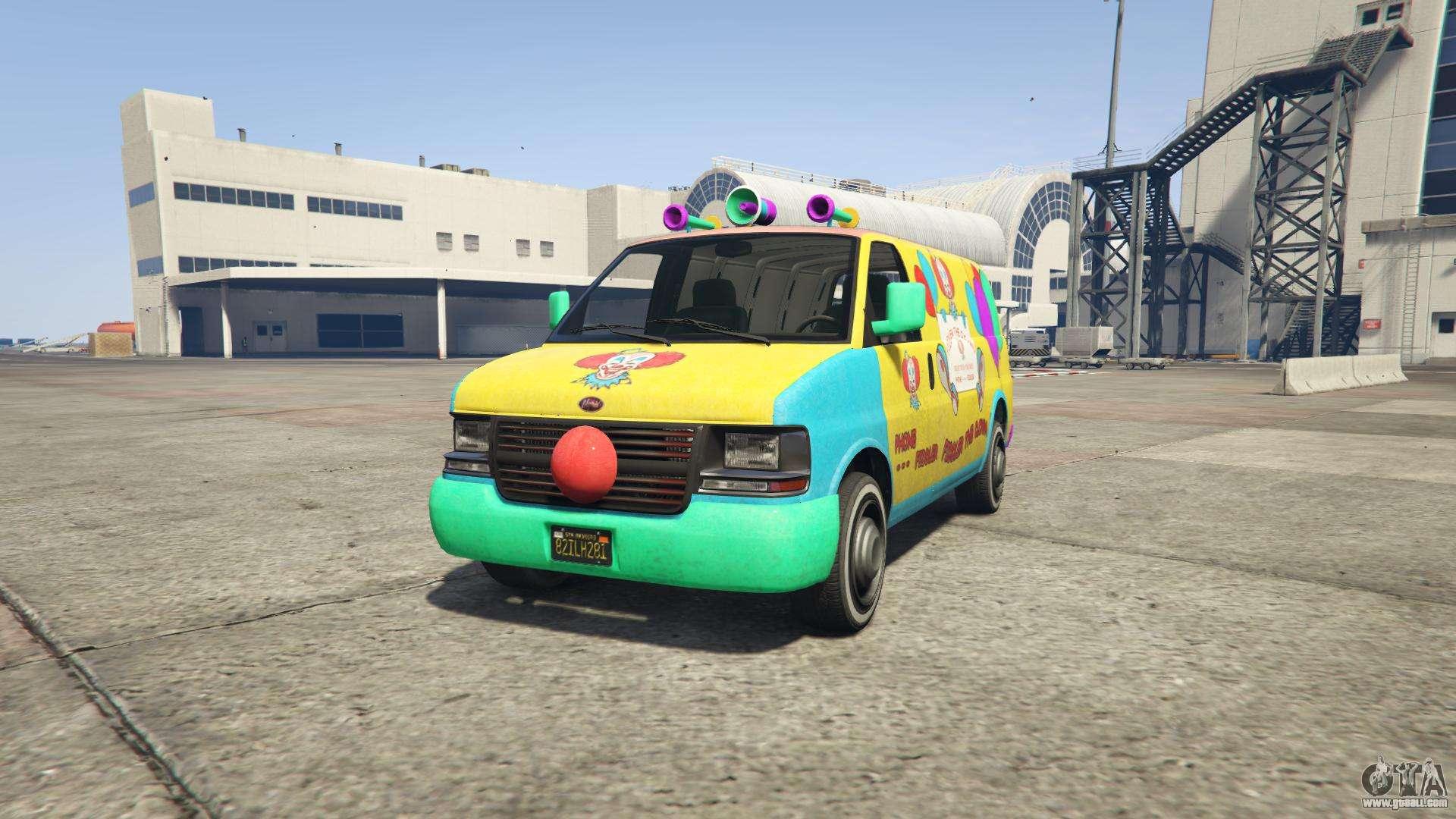 GTA 5 Vapid Clown Van - front view
