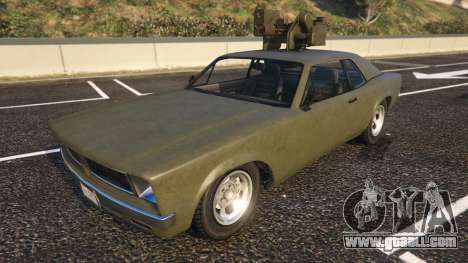 Declasse Weaponized Tampa from GTA 5 front view