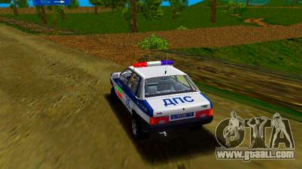 The police car of GTA Vice City