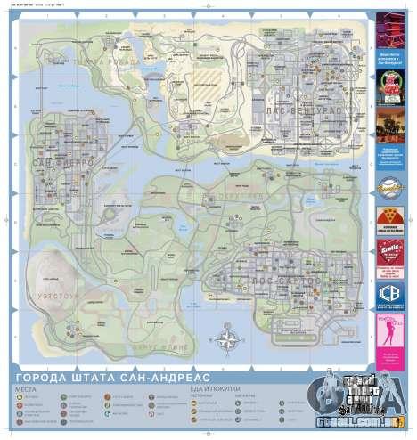 Mapa de GTA San Andreas em russo
