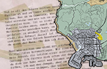 The map of pieces of letter in GTA 5