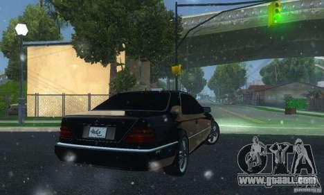 Mercedes-Benz 600SEC for GTA San Andreas back left view