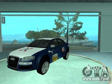 Audi RS4 for GTA San Andreas inner view