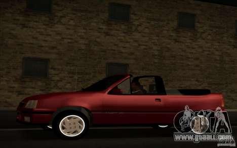 Chevrolet Kadett GSI Cabrio for GTA San Andreas left view