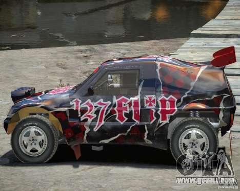 Mitsubishi Pajero Proto Dakar Vinyl 3 for GTA 4 inner view