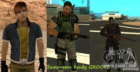 Pak characters from Resident Evil for GTA San Andreas seventh screenshot