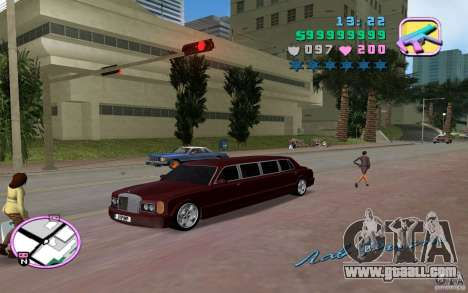 Rolls Royce Silver Seraph for GTA Vice City right view