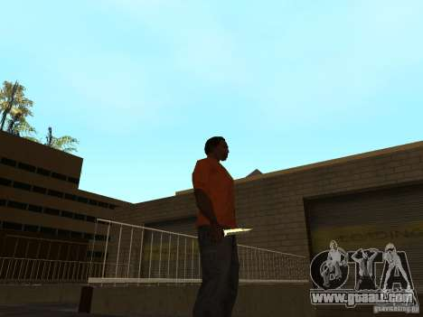 Knife Chrome for GTA San Andreas second screenshot