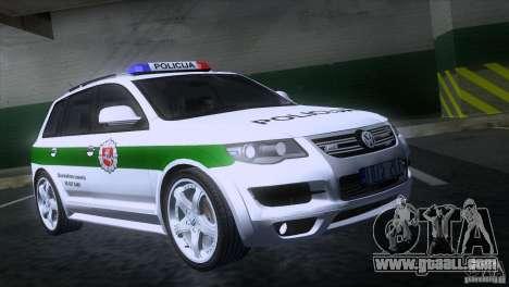 Volkswagen Touareg Policija for GTA San Andreas