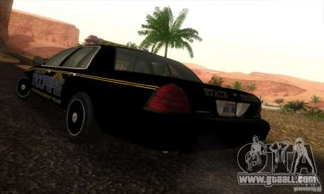 Ford Crown Victoria Alaska Police for GTA San Andreas left view
