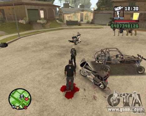 Sangue na tela v2 for GTA San Andreas