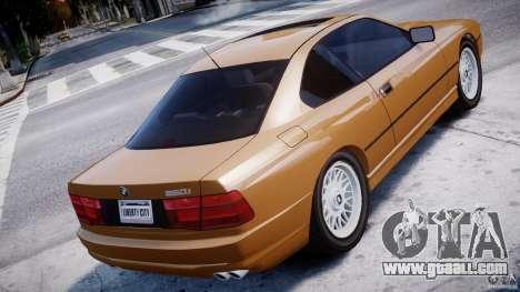 BMW 850i E31 1989-1994 for GTA 4 back left view