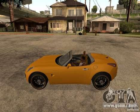 Pontiac Solstice GXP for GTA San Andreas back view