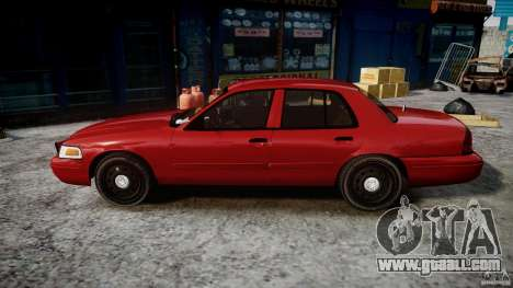 Ford Crown Victoria Detective v4.7 red lights for GTA 4 left view