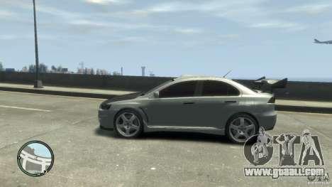 Mitsubishi Lancer Evo X Drift for GTA 4 right view