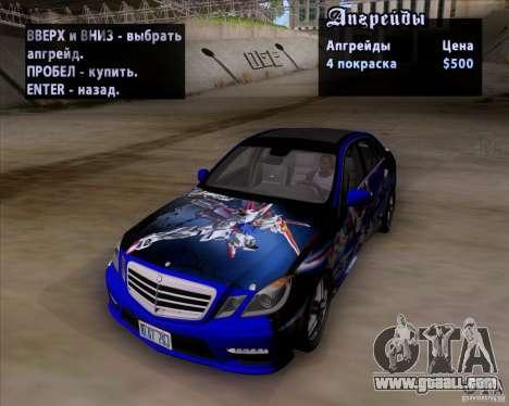 Mercedes-Benz E63 AMG V12 TT Black Revel for GTA San Andreas bottom view