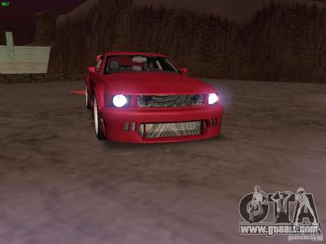 Ford Mustang GT 2005 Tuned for GTA San Andreas engine