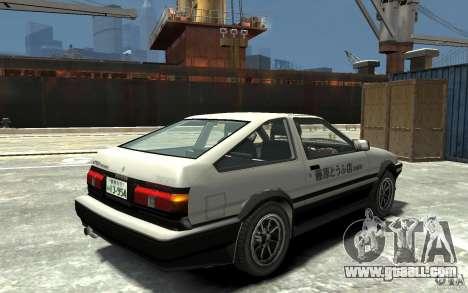 Toyota Sprinter Trueno AE86 for GTA 4 right view