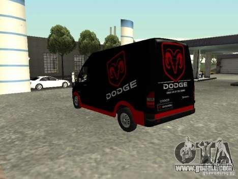 Dodge Sprinter Van 2500 for GTA San Andreas left view