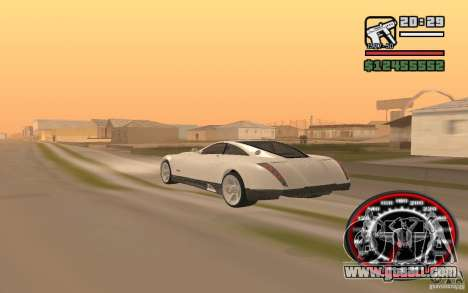 Maybach Exelero for GTA San Andreas left view