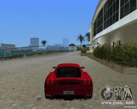 Ferrari F430 for GTA Vice City left view