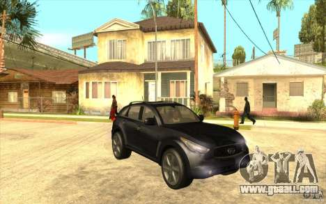 Infiniti FX50 Beta for GTA San Andreas back view