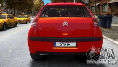 Citroen C4 for GTA 4 right view