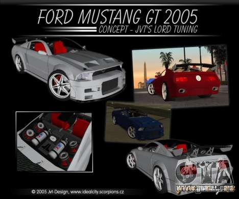 Ford Mustang GT 2005 Concept JVT LORD TUNING for GTA San Andreas inner view