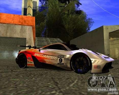 Pagani Huayra SHE for GTA San Andreas right view