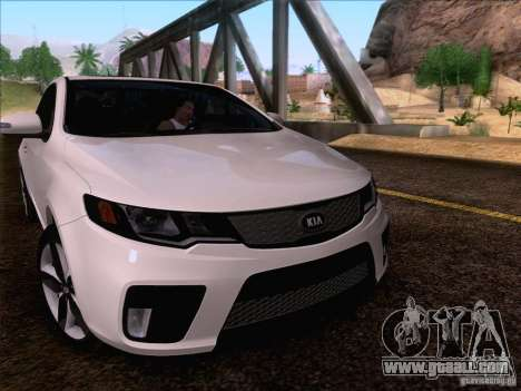 Kia Forte Koup SX for GTA San Andreas upper view