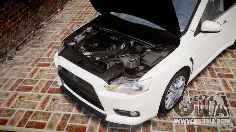 Mitsubishi Lancer Evolution X for GTA 4 inner view