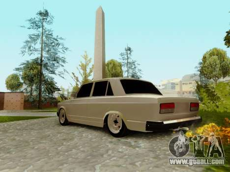 VAZ 2107 for GTA San Andreas upper view