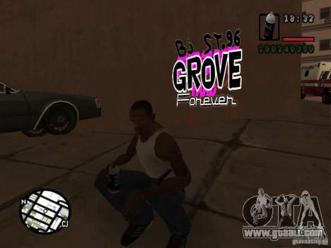 New graffiti gangs for GTA San Andreas forth screenshot
