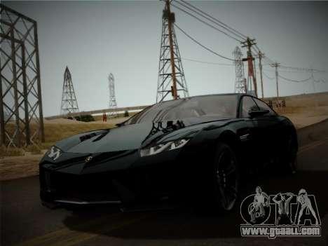 Lamborghini Estoque Concept 2008 for GTA San Andreas left view
